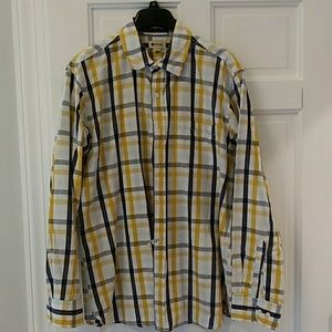Mens plaid dress shirt